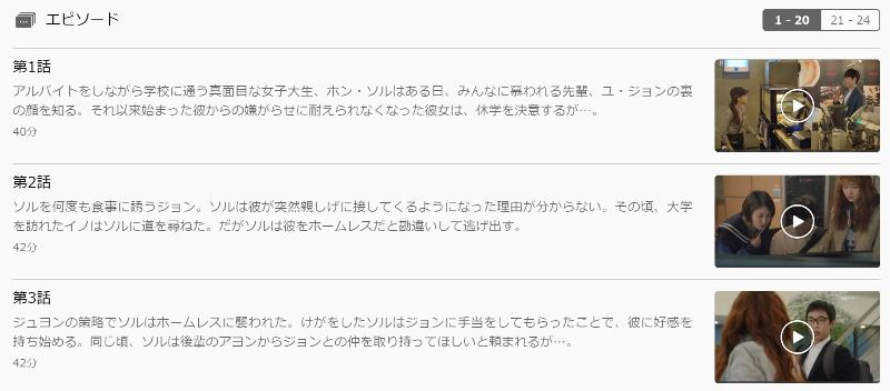 U-NEXTなら恋はチーズインザトラップが独占なので全話日本語字幕で視聴可能